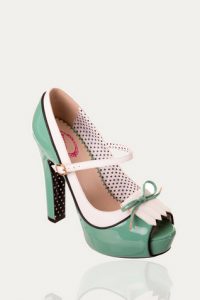 Vintage inspired 'June' peep toe.